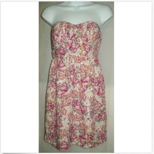 Boutique Forever21 small white pink floral dress